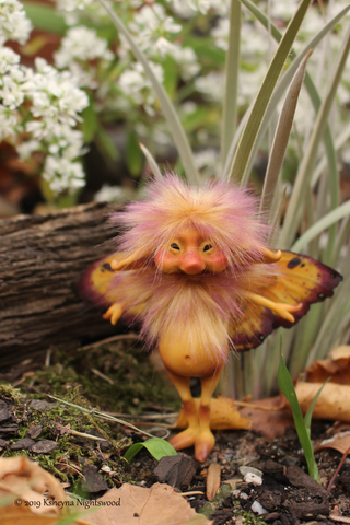 OOAK sprite pixie brownie faerie woodland fae art doll