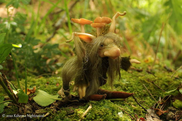 One of a kind small Troll art doll by Ksheyna Nightswood