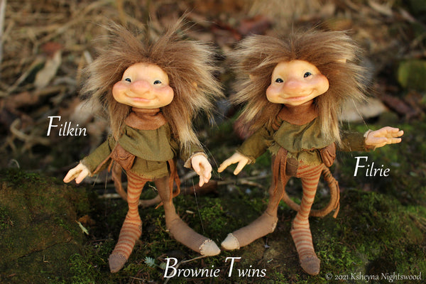 Filkin - OOAK Brownie Art Doll