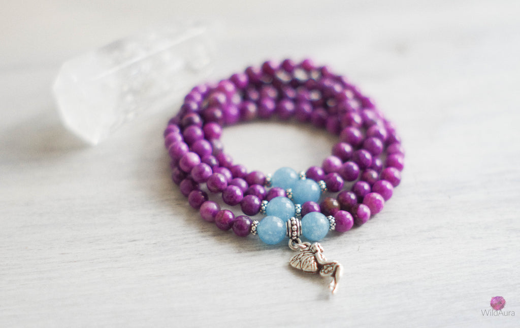 SPIRITUAL GROWTH Sugilite 108 Mala