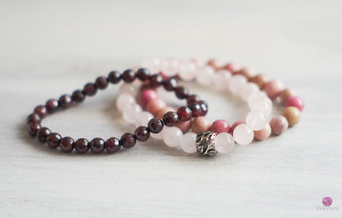 Love Gemstone Bracelet Stack