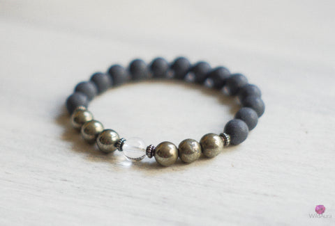 Shungite and Pyrite Gemstone Bracelet