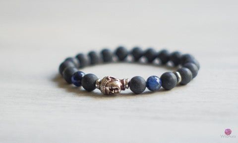 Kyanite and Shungite Gemstone Bracelet