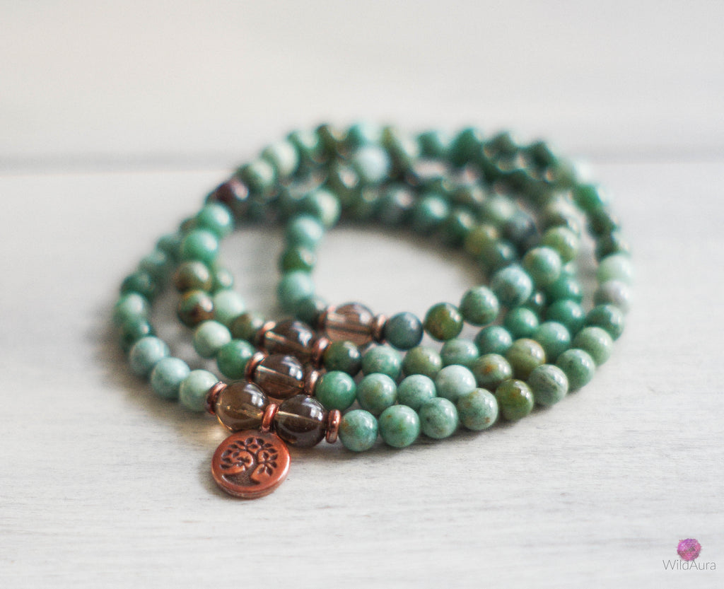 CLARITY Bloodstone 108 Mala