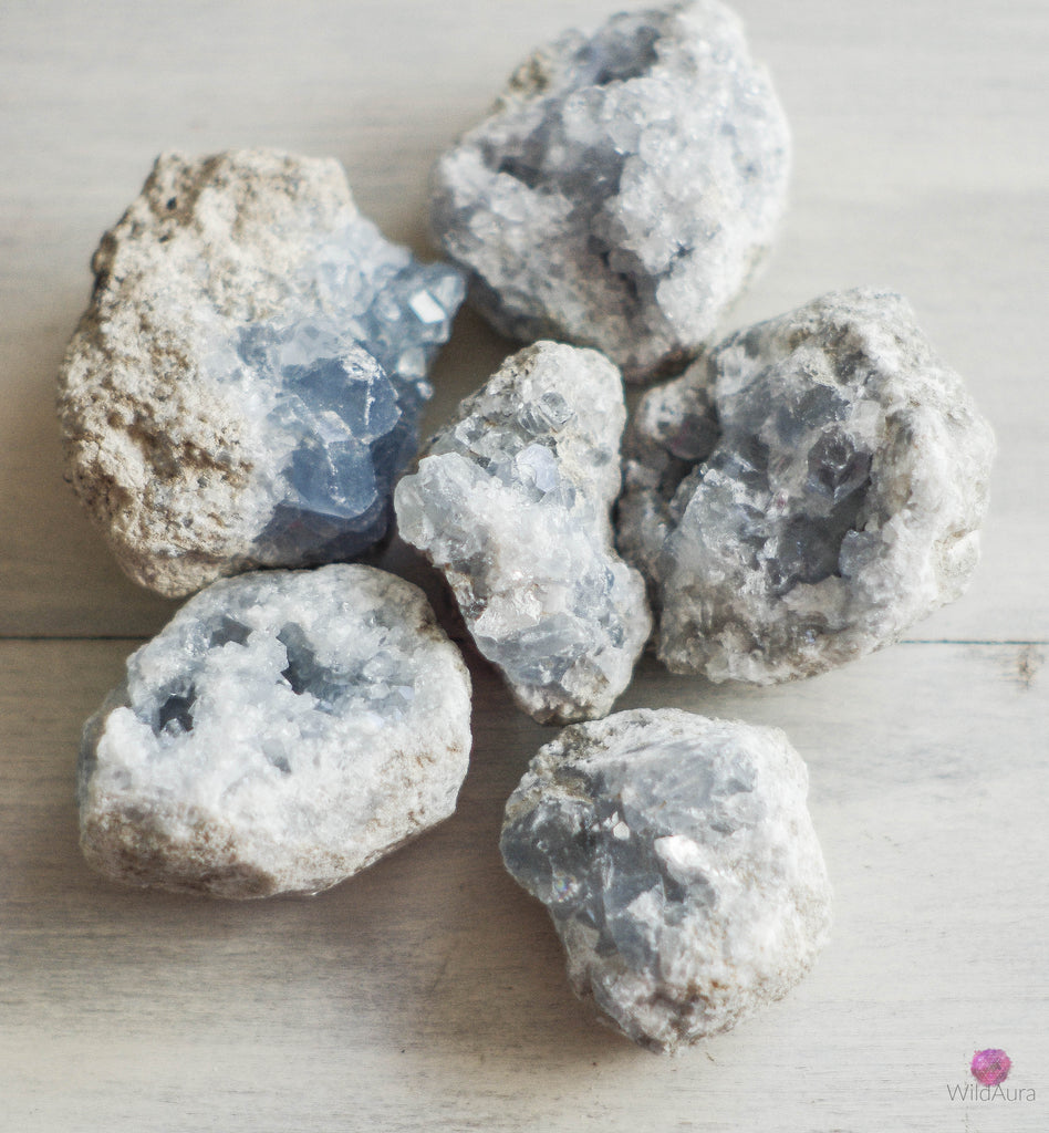 Celestite Cluster - Angelic Healing, Calm