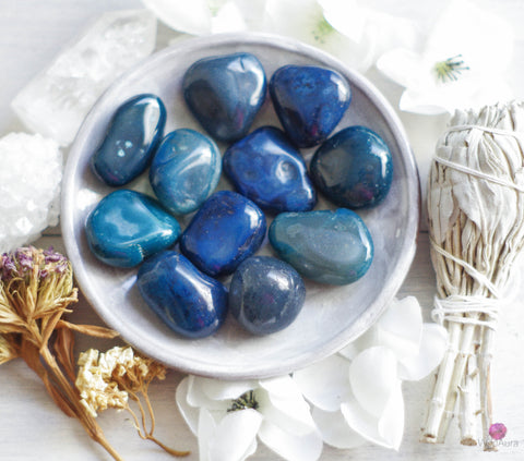 Blue Agate - Prosperity, Strength