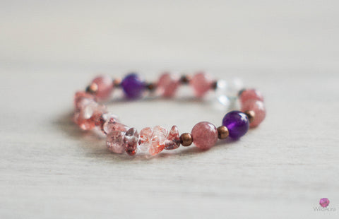Super Seven and Strawberry Quartz Bracelet