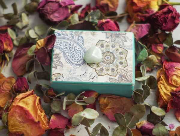 Green Aventurine Gemstone Keepsake Box
