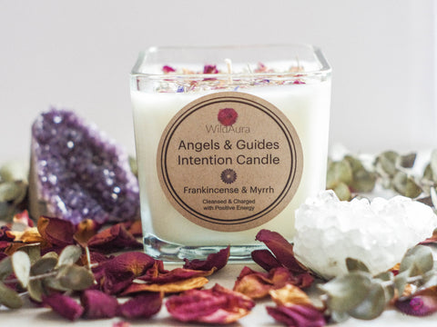 Angels and Guides Intention Candle