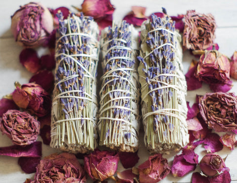 Lavender & White Sage Smudge Stick