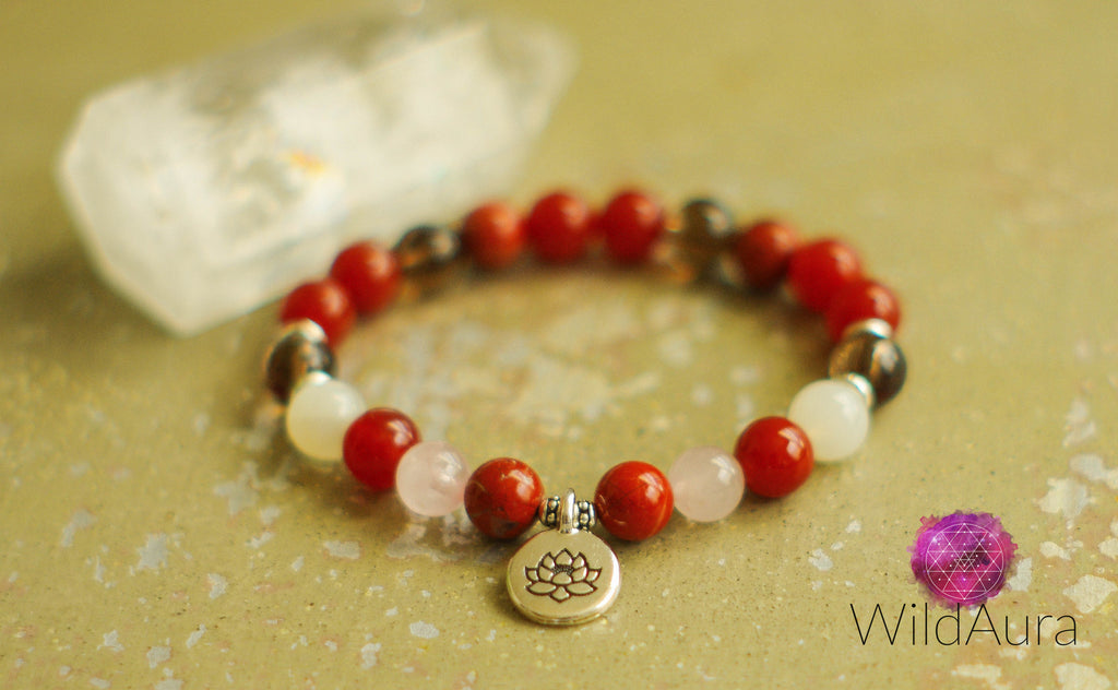 Red Jasper Gemstone Bracelet