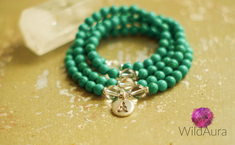 SELF CONFIDENCE HAPPINESS Turquoise 108 Mala