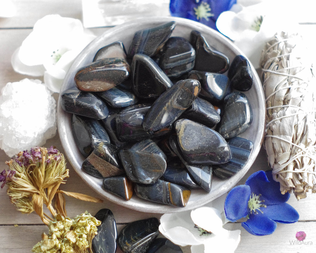 Blue Tiger's Eye - Prosperity, Good Luck, Protection