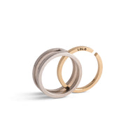 Lolo & Lore Wedding & Engagement Interlock Ring  <p> <font size=-1>14K White and Yellow Gold</font></p>