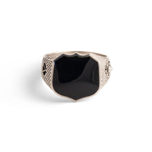 Load image into Gallery viewer, Heirloom Signet Ring with Black Onyx in Sterling Silver - Nicolas Ambrosio