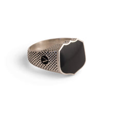 Load image into Gallery viewer, Signet Ring with Black Onyx in Sterling Silver