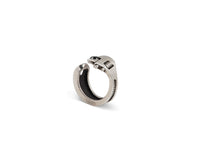 Load image into Gallery viewer, Spanner Wrench adjustable Ring Sterling Silver Brass Black Diamond - Nicolas Ambrosio