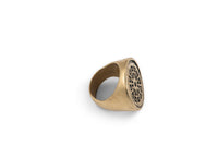 Signet Ring Brooklyn Manhole Cover Brass and Sterling Silver