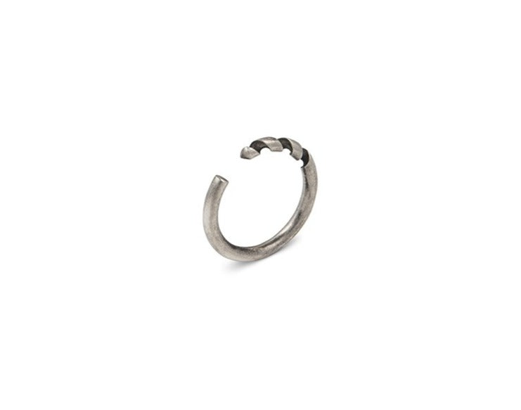 Drill Bit adjustable Ring in Sterling Silver or Brass - Nicolas Ambrosio