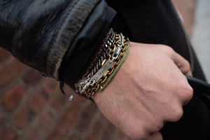 Tag with Message Chain Bracelet Cuban Link Sterling Silver - Nicolas Ambrosio