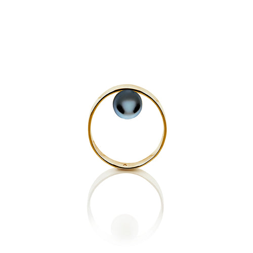Equilibrium Inner Balance Cultured Pearl Ring in Sterling Silver 22k Gold - Nicolas Ambrosio