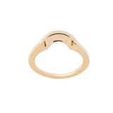 Layla Interlock Jacket for Diamond Ring <p><font size=-1>18k Yellow Gold</font></p>