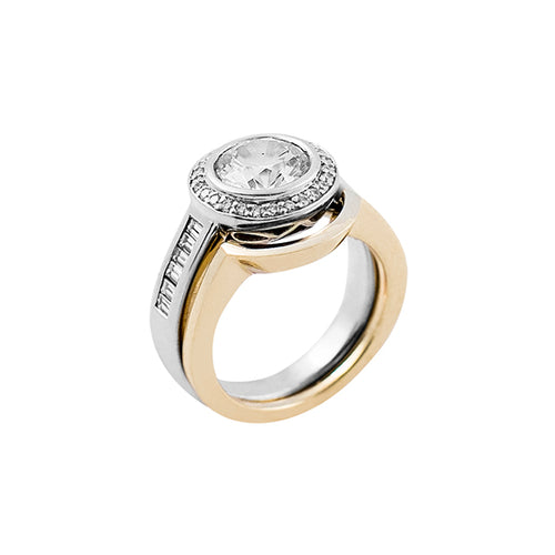 Layla Interlock Jacket for Diamond Ring 18k Yellow Gold - Nicolas Ambrosio