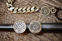 Brooklyn Manhole Cover Signet Ring Brass and Sterling Silver