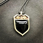 Signet Charm Necklace with Black Onyx or Blood Stone