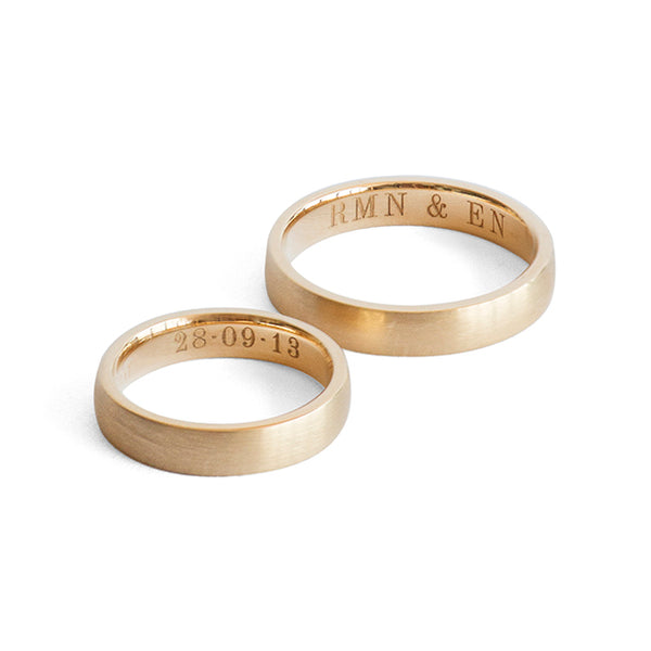 "Robsun Wedding Bands <p><font size=""-1"">22K Gold</font></p>"