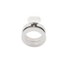 Load image into Gallery viewer, Graphic Engagement Ring 14K White Gold and Diamond - Nicolas Ambrosio