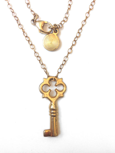 Secret Book Key Necklace