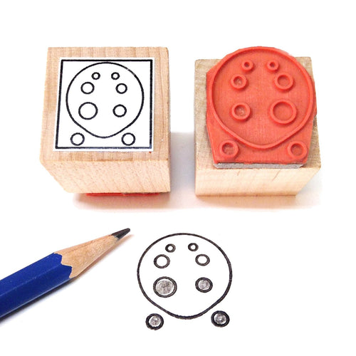 Ocarina Fingering Rubber Stamp (8 Hole)