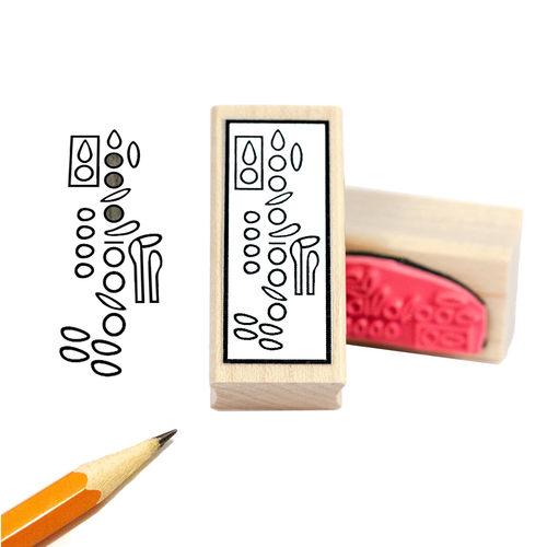 Clarinet Fingering Rubber Stamp