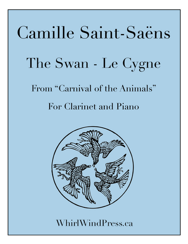 The Swan - Le Cygne - Clarinet & Piano from the