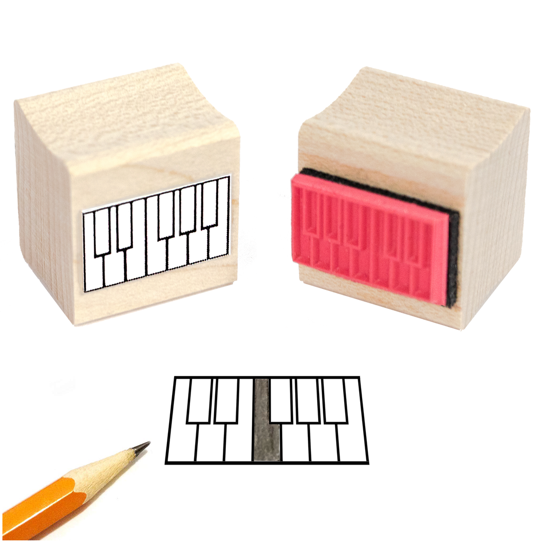 Mini Piano Diagam Rubber Stamp