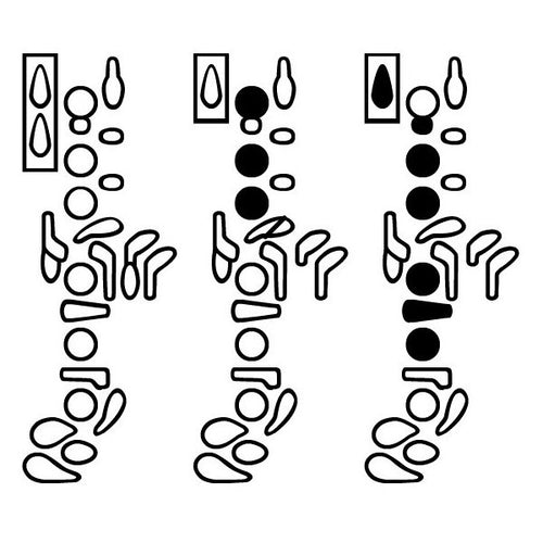 Oboe Fingering Diagram Font