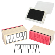 Piano Fingering Rubber Stamp