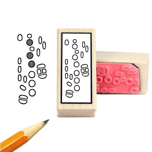 Saxophone Fingering Rubber Stamp