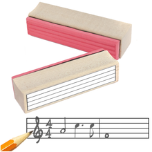 Large Music Staff Rubber Stamp