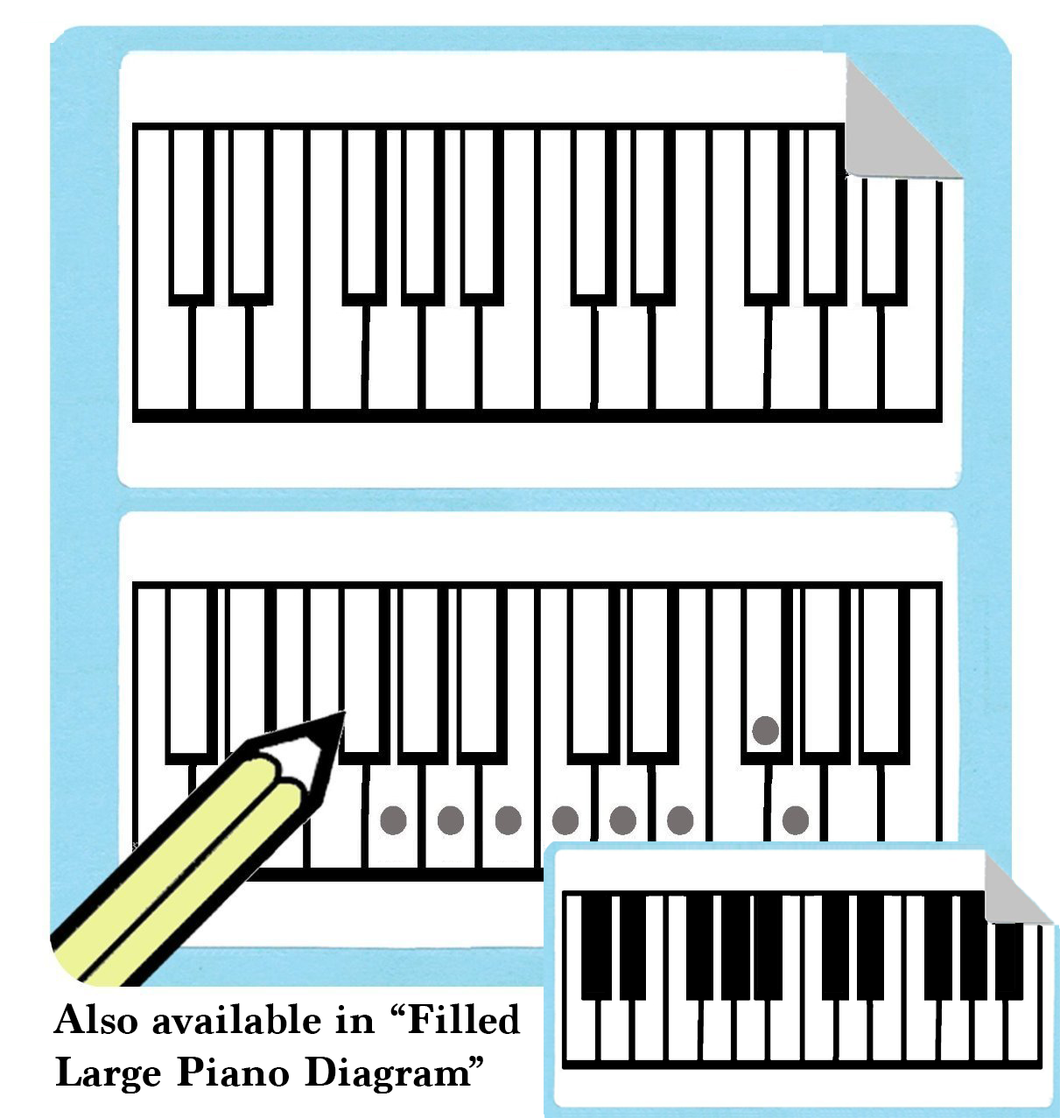 Large Piano Diagram Stickers (Free Shipping!) – Whirlwindpress