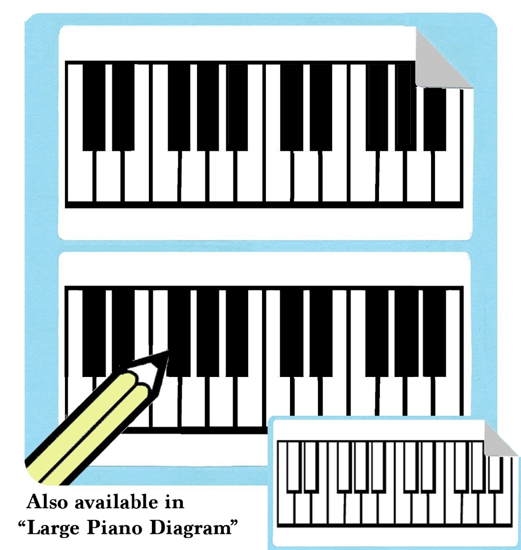 Filled Large Piano Diagram Stickers (Free Shipping!)