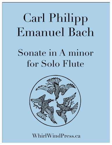 Carl Philipp Emanuel Bach - Sonate in A minor for Solo Flute