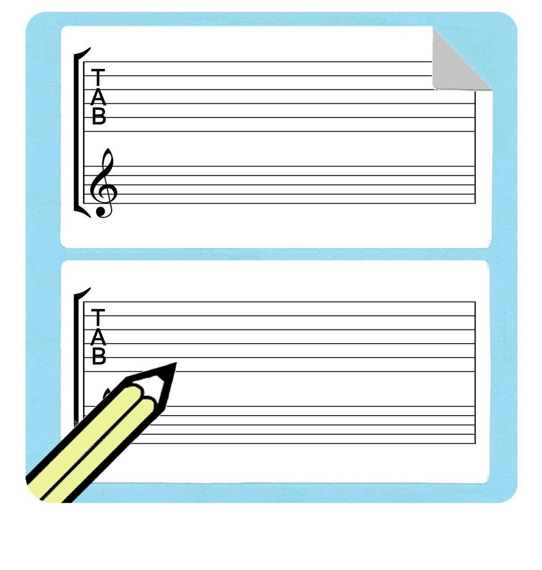 Guitar Tablature and Staff Stickers (Free Shipping!)