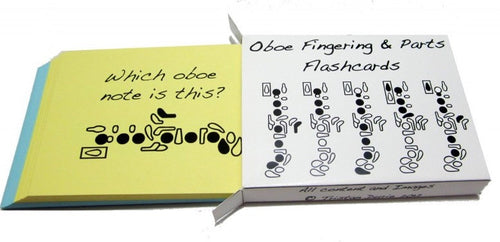 Oboe Fingering and Parts Flashcards