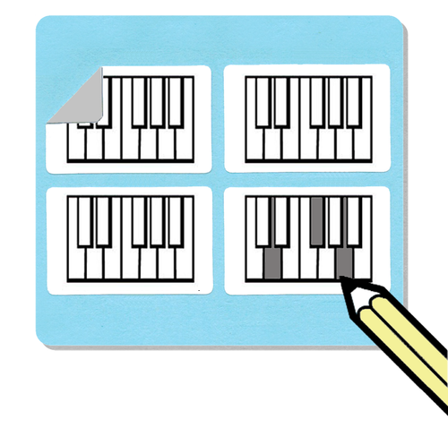 Mini Piano Diagram Stickers (Free Shipping!)