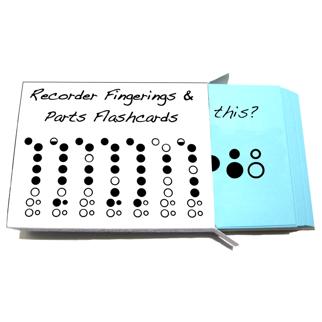 Recorder Fingering and Parts Flashcards