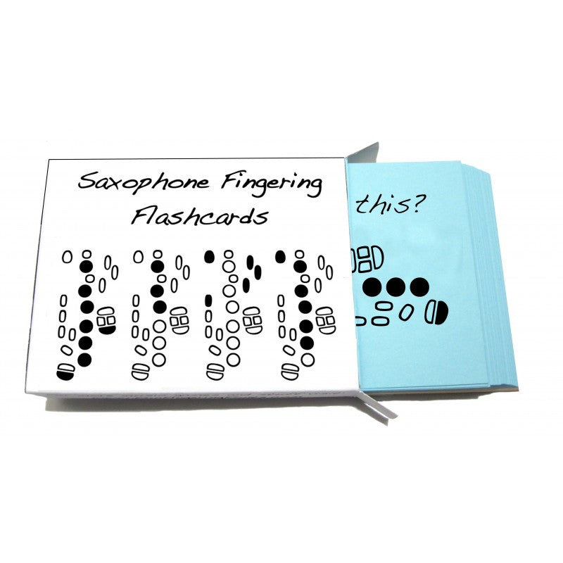 Saxophone Fingering Flashcards