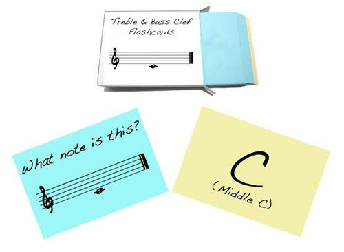 Treble and Bass Clef Flashcards