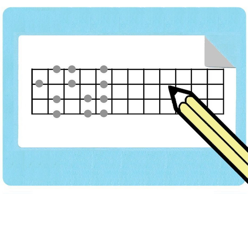 Ukulele Fretboard Diagram Stickers (Free Shipping!)